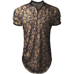 Camiseta Camisa Polo Longline Flor Caribenha - Top
