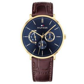 1d2151cc4b0 Relógio Tommy Hilfiger Dourado Couro Marro - Relógios De Pulso no ...