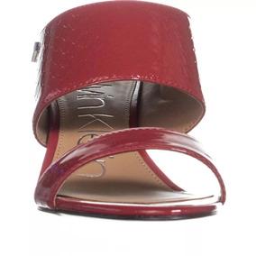 Sandalias Calvin Klein Cecily Patent Strap No. 34e4782-cmj