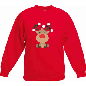 Sudadera Navidad Christmas Reno Nariz Roja Envio Gratis