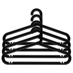 Ganchos Para Ropa Negros Ikea Bagis 32 Piezas