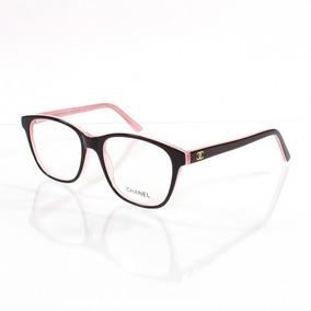 0ce1f634f6ce0 Armação Oculos De Grau Para Grau Ch3582 Emilly Bbb Acetato
