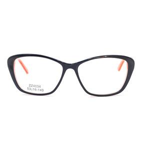 c8b08d0b9e0a2 Armação Óculos Grau Feminino Preto Rosa Gatinho Pinup Zz4034. R  99 99