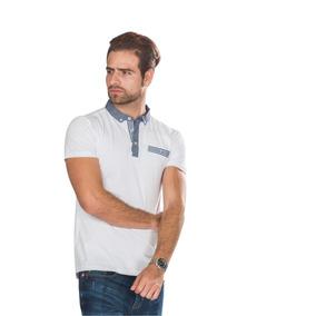 Playeras Camisas Polo Hombre Blanca Casual Lisa Moda A80189