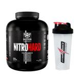 Whey Nitro Hard 1,8kg Darkness Integral Médica + Coqueteleir