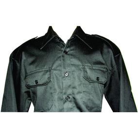 Gandola Camisa Rip Stop Longa Tática Vigia Seg. Preta/azul
