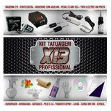 Kit Tatuagem C/ Máquina X13 Rotativa De Tattoo Profissional