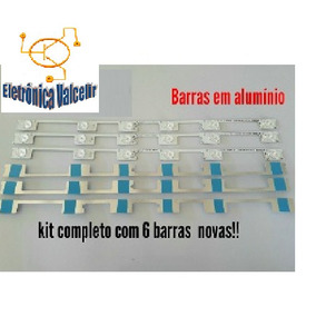 Kit 6 Barras Led Toshiba 48 Dl4844 48l2400 Dl4845 Aluminio