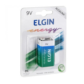 Bateria 9v Elgin Alcalina Energy 6lr61 9v Blister Un 82158