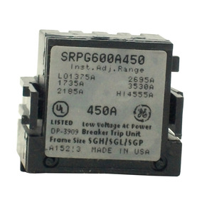 Rating Plug Spectra General Electric, Sg600 450a Frame 600a