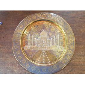 Prato Em Latão Do Taj Mahal
