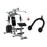 Estação De Musculação 80kg E Puxador Triceps Corda Com Juros