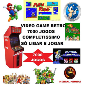 Video Game Com 649 Jogos Atari E + 7000 Jogos Retro Game