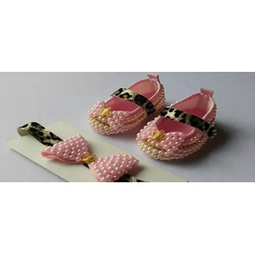 Kit Sapato Infantil Feminino + Tiara