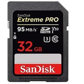 Memoria Sd Sandisk Extreme Pro 32gb Cl10 U3 95mb/s 4k Camara