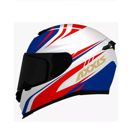 Capacete Axxis Eagle Hybrid White/blue/red