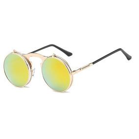 Óculos Sol Redondo Circular Vintage Lente Dupla High Quality d11100d931