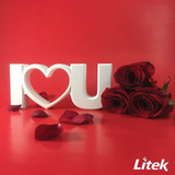 I Love U Portaretrato De Pvc