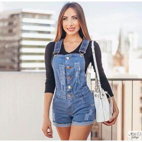 Macaquinho Jeans L22 Pronta Entrega