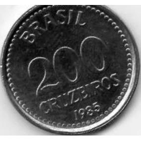 Moeda 200 Cruzeiros Ano 1985