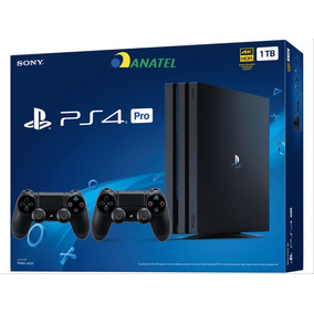 Console Ps4 Sony Playstation 4 Pro Anatel 1tb + 2 Controles