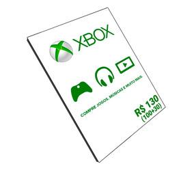 Cartão Microsoft Gift Xbox Brasil R$130 (r$100 + R$30) Reais