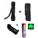 Kit Lanterna Tática Comunite 501b De Led 2000lm Luz Verde