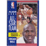 Michael Jordan Tarjeta (1991 All-star Team) Fleer