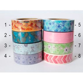 Washi Tape - Fita Adesiva Decorada - Scrapbook Planner Bujo