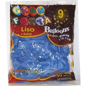9d4823e309 Baloes Gran Festa 9 Azul Safira - Balões no Mercado Livre Brasil