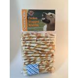 Canine Chews Twist Con Pollo 100pk, Color Blanco/amarillo, 5