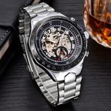 062b52e2900 Relógio De Pulso Mce Mecânico De Aço Inoxidável 394332
