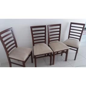Conjunto Cadeiras Madeira Maciça 4 Unidades