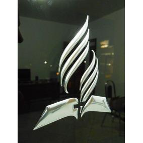 Emblema Adventista 3d - Adesivo Cromado 9cm Logo Iasd