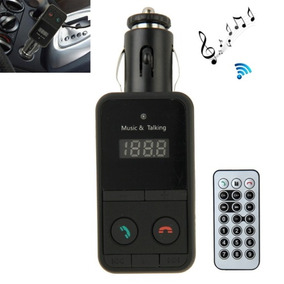 Car Bluetooth Fm Transmitter With Remote Control Para