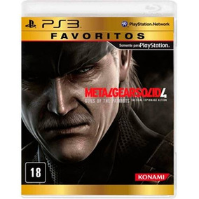 Game Ps3 Metal Gear Solid 4 Guns Of The Patriot - Novo