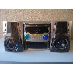 Mini System Toshiba-6620-tape Duplo Cd Triplo Karaokê Rádio