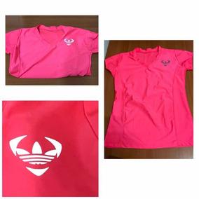 Blusa Deportiva Logo adidas Reflejante Rosa Talla Chica Xs