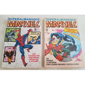Lote Superalmanaque Marvel 1 E 2 Editora Abril