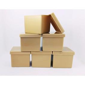 225 Caixinha Acrílica 4x4x3,3cm Dourada - Lembrancinhas
