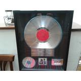 Bob Dylan - Premio Original Por Disco De Platino Unico!!