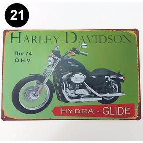 Placa Antiga Salão Indian Harley Davidson Café Frete Grátis