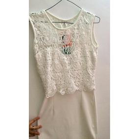 Vestido Blanco Con Torchon Elegante