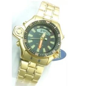40c50f5ba3e Relogio Atlantis G3220 Modelo Serie Ouro Aqualand Full Gold. R  109 99