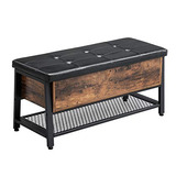 Vasagle Vintage Shoe Bench Storage Ottoman Bench With Padd