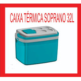 Caixa Térmica Soprano 32lt Com Acesso Rapido Para Latas