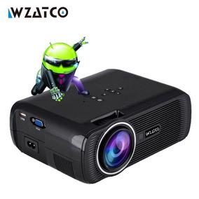 Projetor Wzatco Quad Core Android 6.0 Wifi 2000 Lumens.