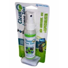 Clean Limpa Telas Spray 60ml C/ Flanela Anti-risco Implastec