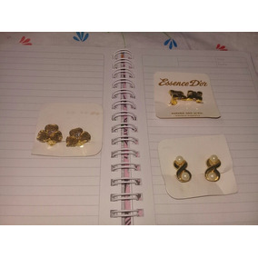 Aros Click Fijos -bañados En Oro