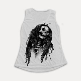 Regata Feminina Bob Marley Caveira Skull Cool Swag Tumblr a1f6893e86d